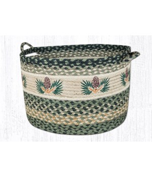 UBP-116 Pinecone Printed Utility Basket 17 in.x11 in.x0.17 in.