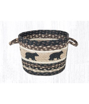 UBP-313 Black Bear Printed Utility Basket 9 in.x7 in.x0.17 in.