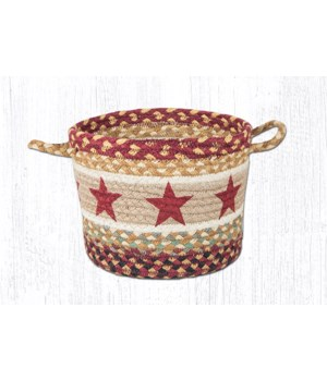 UBP-357 Burgundy Star Printed Utility Basket 9 in.x7 in.x0.17 in.