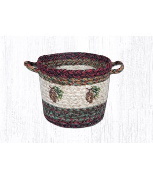 UBP 9-81 Pinecone Printed Utility Basket 9 in.x7 in.x0.17 in.