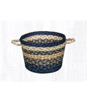 UB-79 Light & Dark Blue/Mustard Utility Basket 9 in.x7 in.x0.17 in.