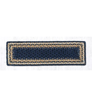 RC-79 Lt. Blue/Dk. Blue/Mustard Rectangle Stair Tread 27 in.x8.25 in.x0.17 in.