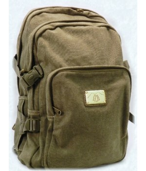 GREEN CANVAS BACKPACK 18 in.