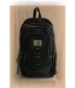 BLACK CANVAS BACKPACK 17 in.