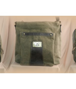 GREEN CANVAS BAG 12 in.
