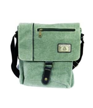 SAGE GREEN SHOULDER BAG 12 in.