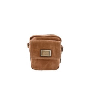 BROWN CANVAS PURSE 8.5 in.
