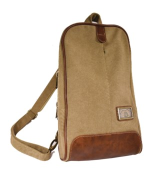 KHAKI CANVAS SLING/BACKPACK 15.7 in.