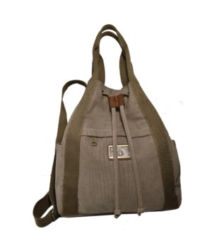 KHAKI CANVAS SLING/BACKPACK 14.2 in.