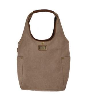 TAN CANVAS SHOLDER BAG 19.7 in.