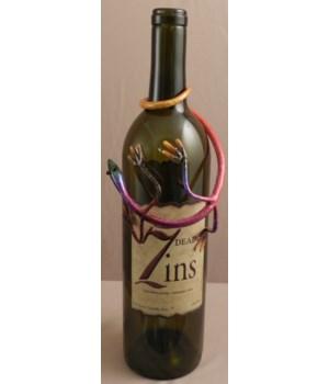 Gecko Wine Bottle Charm 6 in.L Set of 4