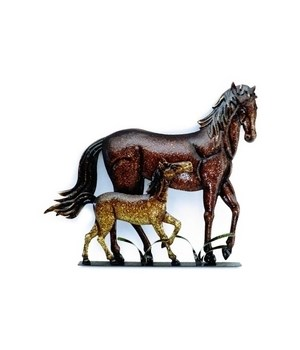 HORSE & COLT WALL HANGING 14 x 12.5 in.
