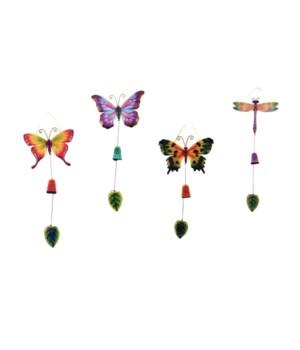Butterfly & Dragonfly windchimes set of 4 - 21.6 in.