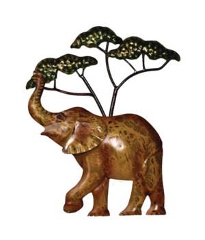 METAL ELEPHANT WALL  ART 12 in H