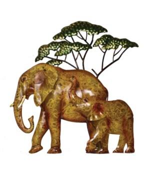METAL ELEPHANT WALL ART 17 in H