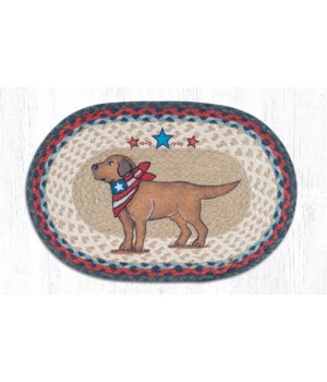 PM-OP-15 Yellow Lab Oval Placemat 13 in.x19 in.x0.17 in.
