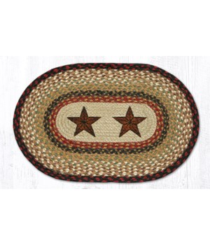 PM-OP-19 Barn Stars Oval Placemat 13 in.x19 in.x0.17 in.