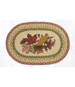 PM-OP-24 Autumn Leaves Oval Placemat 13 in.x19 in.x0.17 in.
