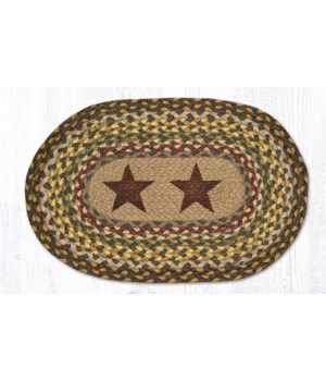 PM-OP-51 Gold Stars Oval Placemat 13 in.x19 in.x0.17 in.