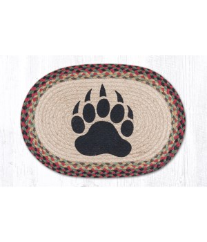 PM-OP-81 Bear Paw Oval Placemat 13 in.x19 in.x0.17 in.
