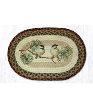 PM-OP-81 Chickadee Oval Placemat 13 in.x19 in.x0.17 in.