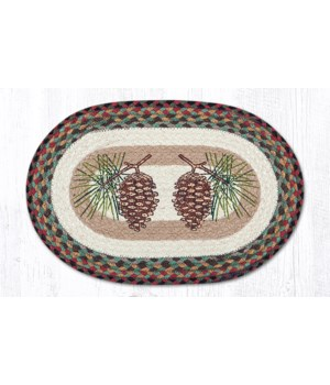 PM-OP-81 Pinecone Oval Placemat 13 in.x19 in.x0.17 in.