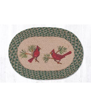 PM-OP-365 Cardinals Oval Placemat 13 in.x19 in.x0.17 in.