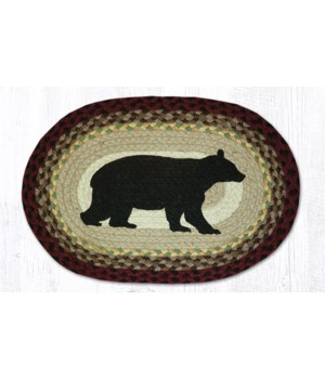 PM-OP-395 Cabin Bear Oval Placemat 13 in.x19 in.x0.17 in.
