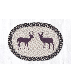 PM-OP-518 Bucks Oval Placemat 13 in.x19 in.x0.17 in.