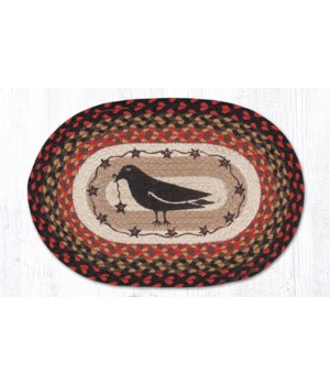 PM-OP-919 Crow & Star Oval Placemat 13 in.x19 in.x0.17 in.