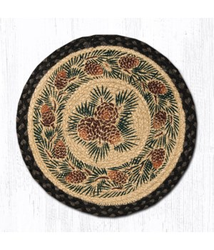 CH-025A Pinecone Round Chair Pad 15.5 x 15.5 in.x0.17 in.