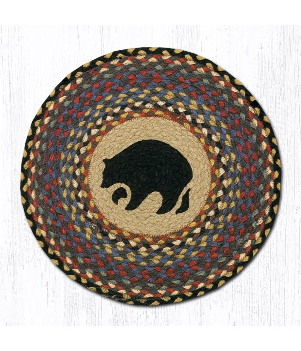 CH-43 Black Bear Round Chair Pad 15.5 x 15.5 in.x0.17 in.