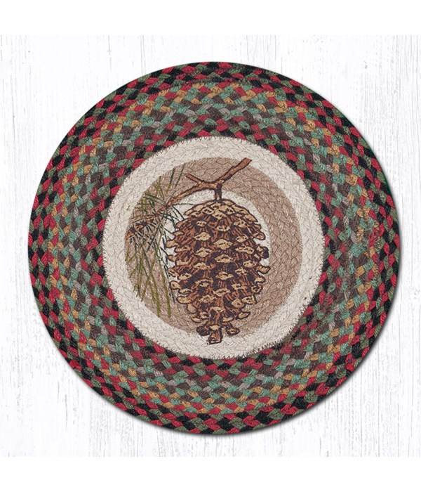 CH-81 Pinecone Round Chair Pad 15.5 x 15.5 in.x0.17 in.