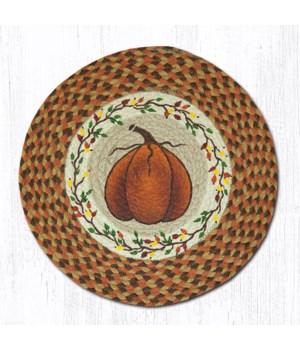 CH-222 Harvest Pumpkin Round Chair Pad 15.5 x 15.5 in.x0.17 in.