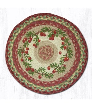 CH-390 Cranberries Round Chair Pad 15.5 x 15.5 in.x0.17 in.