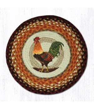 CH-391 Rooster Round Chair Pad 15.5 x 15.5 in.x0.17 in.