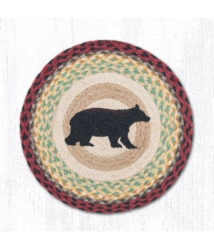CH-395 Cabin Bear Round Chair Pad 15.5 x 15.5 in.x0.17 in.