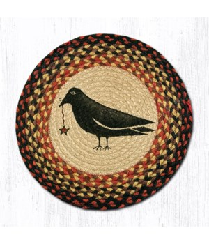 CH-919 Crow & Star Round Chair Pad 15.5 x 15.5 in.x0.17 in.