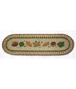 ST-OP-24 Autumn Leaves Oval Stair Tread 27 in.x8.25 in.x0.17 in.