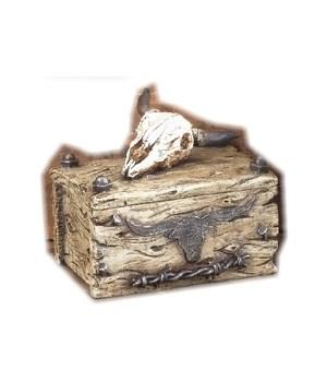 Skull Box 4 in. W