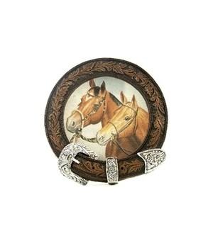 DOUBLE HORSE W/BELT NIGHT LIGHT