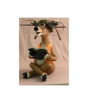 Deer Eye Glass Holder 6 in. H