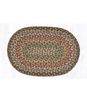 C-51 Fir/Ivory Jute Placemat 13 in.x19 in.x0.17 in.