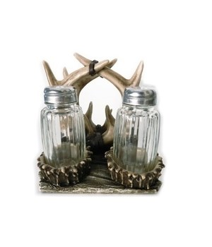 ANTLER NAPKIN  & SALT & PEPPER HOLDER 4.9 in.