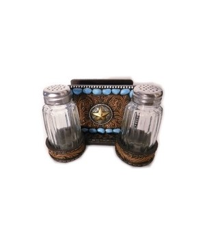 WESTERN NAPKIN  & SALT/PEPPER HOLDER 5.25 in.