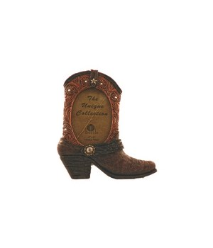 Brown Boot Photo Frame 4 x 6 x 9.4 in.