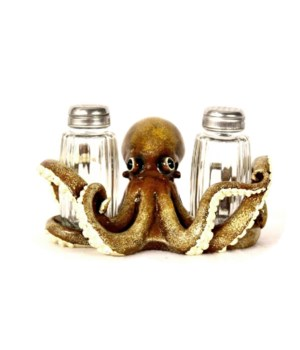 OCTOPUS SALT & PEPPER HOLDER 6 in. W
