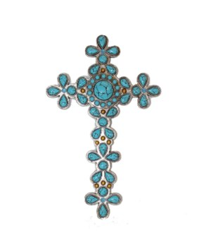 TURQUOISE CROSS 12 in.