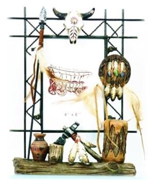 Native American Spear Frame 4 x 6 x 10 in. H