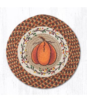 PM-RP-222 Harvest Pumpkin Printed Round Placemat 15 in.x15 in.x0.17 in.